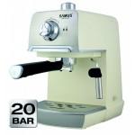 Espressor cafea Samus Aroma 20 White 1.2 litri 20 Bari 850W Cream Inox