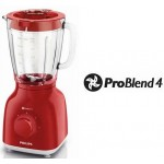 Blender de masa Philips HR2105/50, Dailly Collection, Rosu