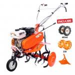 Motosapa DAC 7000ACC1 + roti cauciuc 4.00-8+rarita ajustabila+roti metalice 350 fara manicot