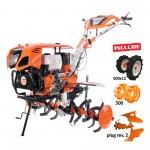 Motosapatoare RURIS 1300KS + roti cauciuc 5.00-12+plug reversibil rev2+roti metalice 500