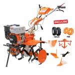 Motosapatoare Ruris 731ACC +  roti cauciuc + rarita + plug +adaptor plug+ dispozitiv scos cartofi + roti metalice 400 fara manicot +cultivator