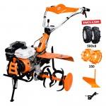 Motosapatoare RURIS 753K + roti cauciuc 5.00-8+plug+adaptor+roti metalice 350 fara manicot