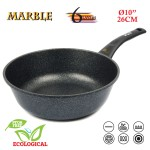 Tigaie Wok Oursson KWW2622MR, Marble, Indicator de incalzire, 26cm
