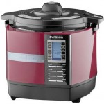 Multicooker Oursson Versatility cu presiune inalta MP5005PSD/DC, Visiniu