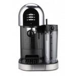 Espressor manual Heinner HEM-DL1470BK, dozator lapte, 20bar, Negru