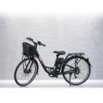 Bicicleta electrica RKS XT1, 250W, Li-Ion 36V 10.4Ah, 50km, cadru aluminiu, negru