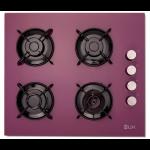 Plita incorporabila pe gaz LDK YD640RE40P, 4 arzatoare, aprindere electrica, 60 cm, mov