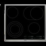 Plita incorporabila vitroceramica AEG HK365407XB, 4 zone, negru/inox