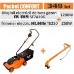"""Pachet """" Confort """" {masina tuns gazon electrica Ruris SF7AI06 si trimmer electric Ruris TE250}"""
