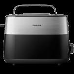 Prăjitor de pâine Philips 8 setări, Design compact, Grilaj de încălzire integrat HD251690