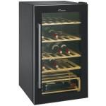 Vitrina de vinuri Candy CCV 200 GL, 117 L, 40 sticle, Negru