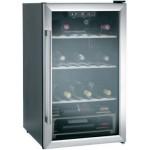Vitrina de vinuri Candy HWC 140D, 118L, 40 sticle, Negru/Inox