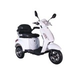 Tricicleta electrica Volta VM4, 1500W, autonomie 50km, viteza 25km/h, Alb/ Rosu