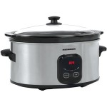 Slow Cooker Heinner HSCK-C57IX, 5.7 L, Vas Ceramica InoxNegru