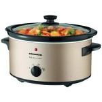 Slow Cooker Heinner HSCK-C35CR, 3.5 L, Vas Ceramica, Control Mecanic, 2 Setari temperatura, Timer, Auriu