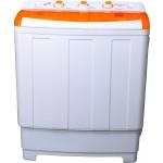 Masina de spalat rufe Vortex VO1501, Semiautomata, Spalare 7/8 kg, Stoarcere 5kg, Alb/Portocaliu