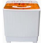 Masina de spalat rufe Vortex VO1500, Semiautomata, Spalare 6 kg, Stoarcere 5 kg, Alb/Portocaliu
