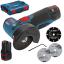 www.magazinieftin.ro-BOSCH GWS 12V-76 Polizor unghiular brushless, cu 2 acumulatori Li-Ion, 3Ah + L-BOXX 06019F200B-06019F200B-20