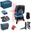 BOSCH GCL 2-50 C + RM 3 + BM 3 + RC 2 Nivela laser cu linii cu 1 acu 12 V (20 m) cu Bluetooth + Suport rotatv + Suport perete + Receptor + L-BOXX 0601066G04