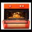 Cuptor electric incorporabil LDK A64EZRM, mecanic, portocaliu