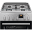 Aragaz mixt Electrolux SteamBake AirFry LKK560208X, 4 Arzatoare gaz, Grill, Cuptor electric 58 L, 50x60 cm, Inox