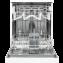 Masina de spalat vase Vortex VO1701, Display, 60 cm, 12 Seturi, Alb, A++
