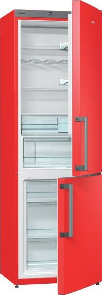 Transport gratuit-Combina frigorifica Gorenje RK6192ERD, A++, Rosu