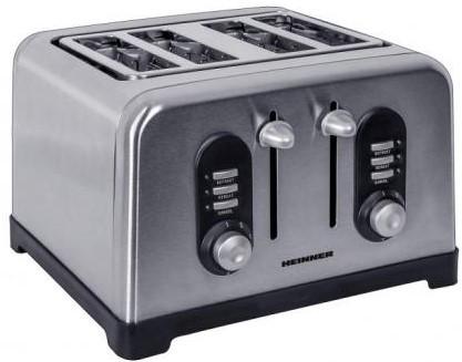Prajitor de paine Heinner HTP-BK1400XMC, 4felii, 1400W, Inox