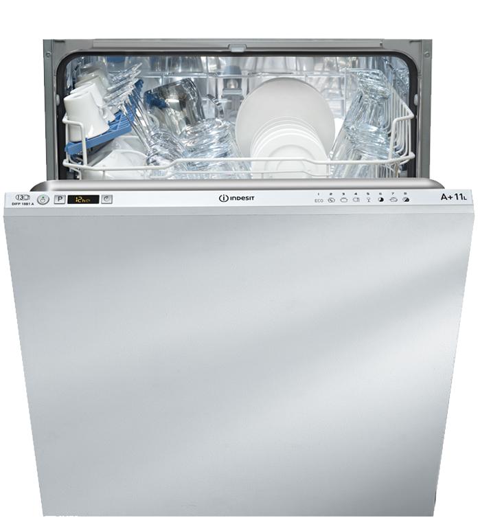 Masina de spalat vase incorporabila Indesit DIFP 18 B1 A, 13 seturi, A+, alb