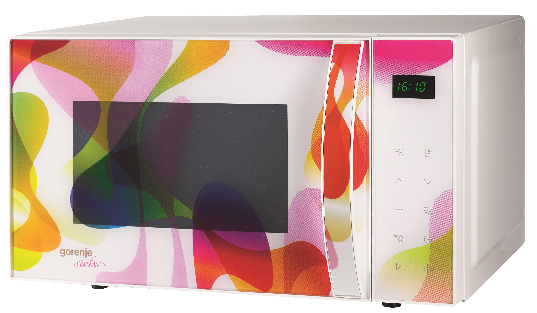 Transport gratuit - Cuptor cu microunde electronic Gorenje MO20KARIM, 20L, 1200W, alb colorat