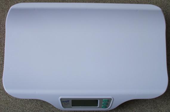 Cantar digital pentru bebelusi SCALE-BABY-W, 20kg, Alb