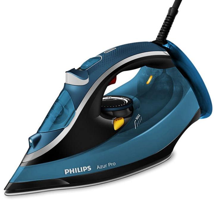Fier de calcat cu abur Azur Pro Philips GC4880/20, 2800W, albastru