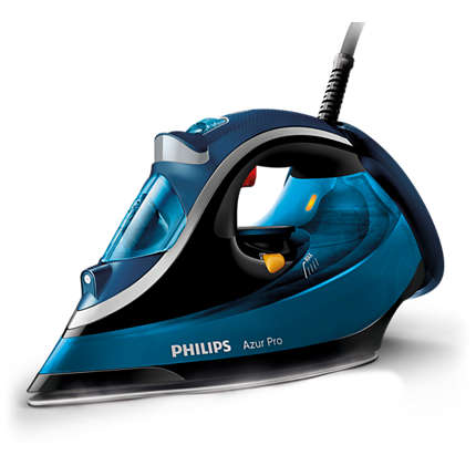 Fier de calcat cu abur Azur Pro Philips GC4881/20, 2800W, albastru