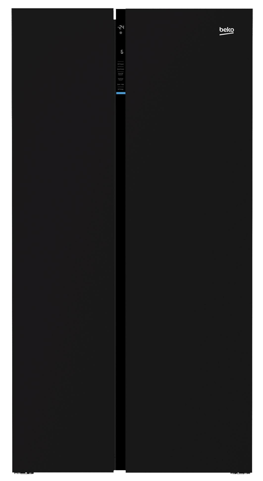 Frigider Side-by-Side Beko GN163130ZGB, 558L, NeoFrost, A++, negru