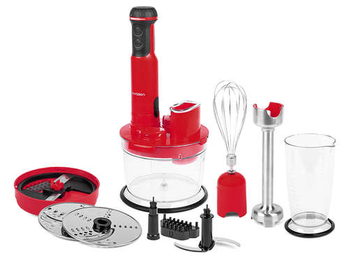 TRANSPORT GRATUIT- Mixer 6 in 1 vertical multifunctional Oursson HB6070/RD, 600W, rosu
