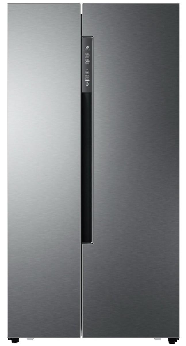 Combina frigorifica Side By side Haier HRF-450DS6, No Frost, 450l, Argintiu