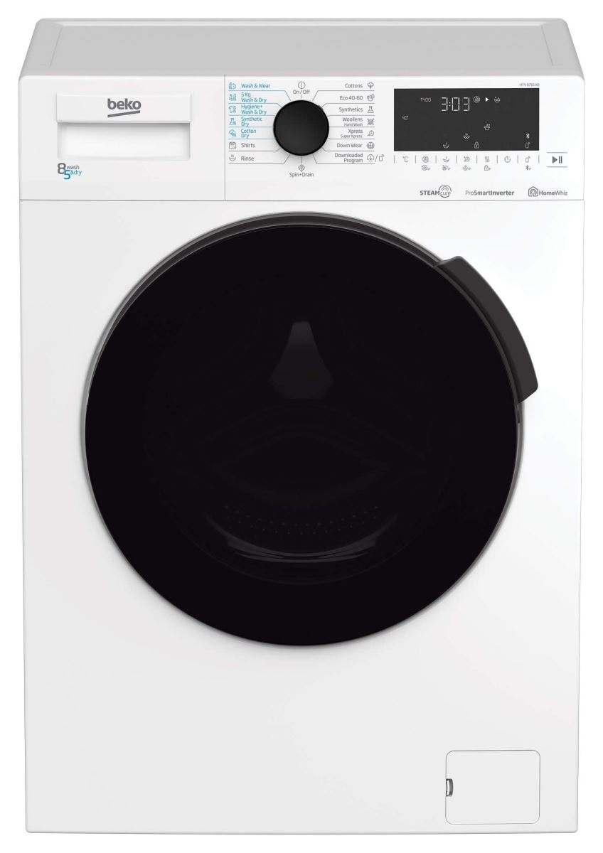 Masina de spalat rufe cu uscator Beko HTV8716X0, 8/5 kg, 1400 RPM, 15 Programe, Alb, B
