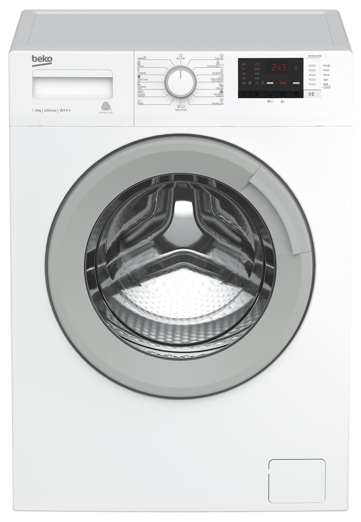 Masina de spalat Beko WTV8512XSW, 8 kg, 1000 RPM, Alb, A
