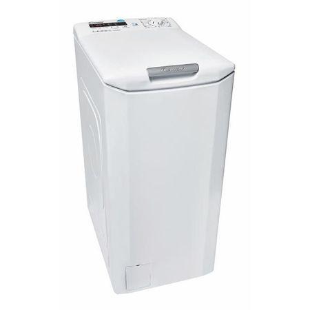 TRANSPORT GRATUIT - Masina de spalat rufe cu incarcare verticala Candy CST G362D-S, Afisaj digital, Smart Touch, NFC, 6 kg, 1200 RPM, Clasa A+++, Alb