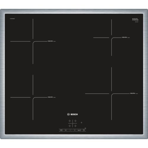 Plita incorporabila vitroceramica cu inductie Bosch PUE645BB2E, 4 zone, 60 cm, negru