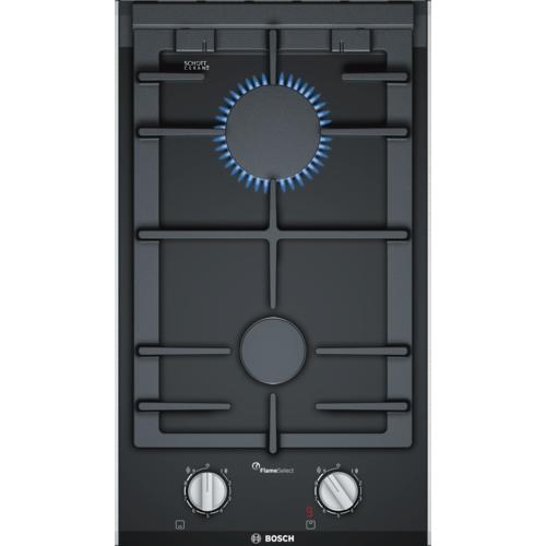 Plita incorporabila Bosch PRB3A6D70, 2 arzatoare pe gaz, negru