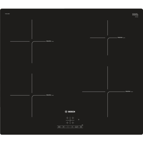 Plita incorporabila vitroceramica cu inductie Bosch PUE611BB2E, 60 cm, negru