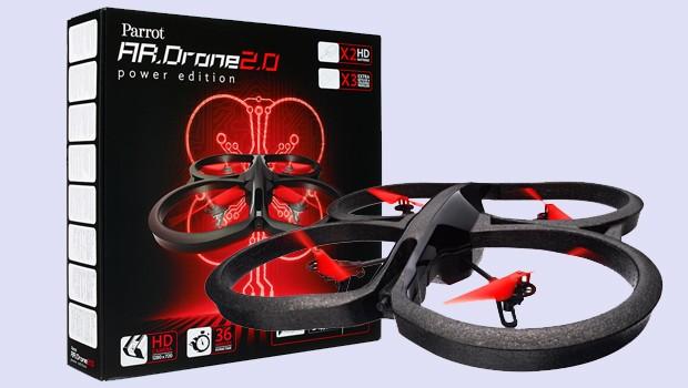 Parrot AR.Drone 2.0 Power Edition - Quadricopter controlat prin smartphone sau tableta Inregistrare HD