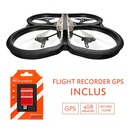 Parrot AR.Drone 2.0 GPS Edition - Quadricopter controlat prin smartphone sau tableta Inregistrare HD