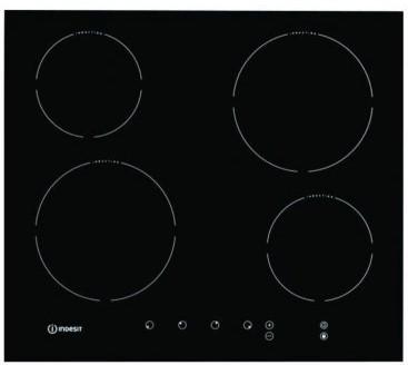 Plita electrica incorporabila Indesit VIA 640 O, Inducite, Touch Control, Negru