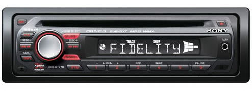 Radio CD auto SONY CDX-GT270MP