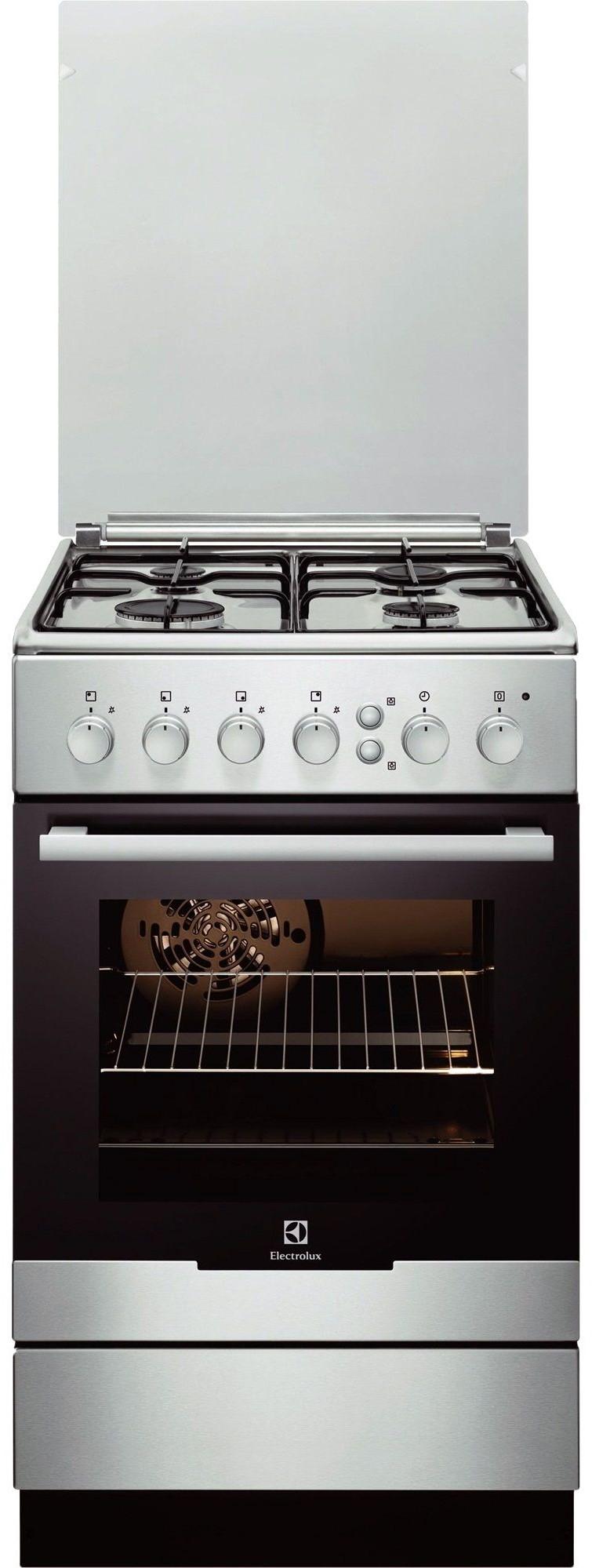 Aragaz pe gaz Electrolux EKG51351OX, grill, Inox