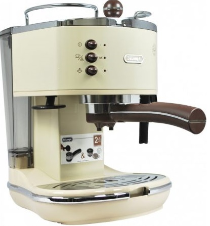 Espressor manual Icona Vintage ECOV 311.BG, 1100W, 1.4L, 15bar, crem