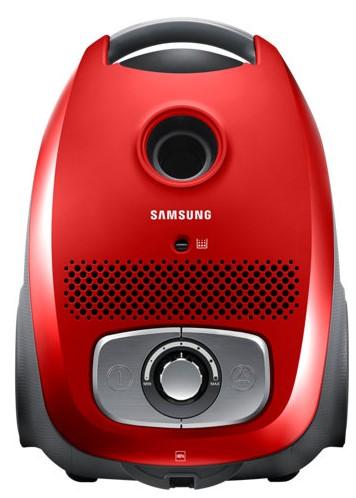 Aspirator cu sac Samsung VC07RVNJGRL, 3l, 750W, Rosu
