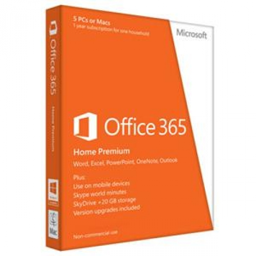 Sistem de operare Microsoft Office 365 Home Premium Engleza 5 PC 1 An 6GQ-00020